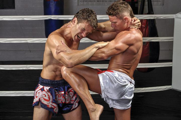 Kurs instruktora muay-thai, walczący zawodnicy